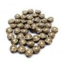 Distantier rotund bronz antic 6.5*6.5mm