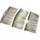 DISPONIBIL 1 SET CU 3 BUCATI - PI05DEF - Pieptene par argintiu inchis 77*37mm