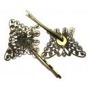 DISPONIBIL 4 BUCATI - AGR14A - Agrafa fluture bronz antic 35*27mm