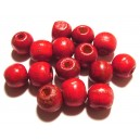 Margele lemn rosu antic 12*10.5mm