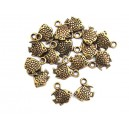 E-CP135 - (50 buc.) Charm pestisor bronz antic 11*10mm