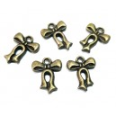 E-CP148 - (50 buc.) Charm fundita bronz antic 15*12mm