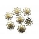 Capacele filigranate floare bronz antic 21*4.5mm