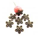 CA53 - Capacele floare bronz antic 11mm