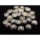 CA60 - (10 buc.) Capacele filigranate argintii 9mm