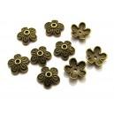 CA102 - Capacele floare bronz antic 10mm