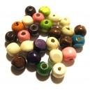 (10 buc.) Margele lemn diverse culori 12*10.5mm
