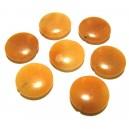 Aventurin portocaliu banuti 18mm - FINISAJ INCOMPLET
