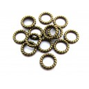 (10 buc.) Zale inchise bronz antic 10mm