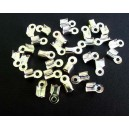 (20 buc.) Capat snur argintiu 9*3.5mm