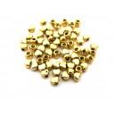 (10 buc.) Distantier inimioara auriu antic 4*3.5mm