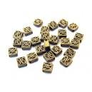 Distantier patrat bronz antic 5mm