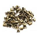 (20 buc) Capat snur bronz antic 2.5*2.1mm