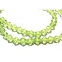 MFS13- (10 buc.) Cristale verde crud fatetate 4mm