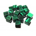 PSXX-03 - Malachit de sinteza verde cub 8mm