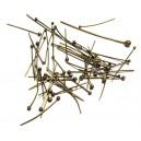 DISPONIBIL UN PACHET - PINMIX01 - (50 bucati) Ace cu bila bronz antic mixt 1.3-3.7cm