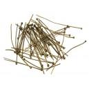 DISPONIBIL UN PACHET - PINMIX03 - (50 bucati) Ace cu bila bronz antic mixt 3-5cm