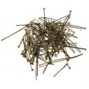 DISPONIBIL 2 PACHETE - PINMIX07 - (100 bucati) Ace cu cap bronz antic mixt 2-4.5cm