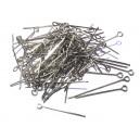 DISPONIBIL 4 PACHETE - PINMIX10 - (100 buc.) Ace cu bucla argintiu inchis 2.5-3cm