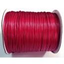SPOL1.5mm-20A - (1 metru) Snur poliester cerat rosu cerise 1.5mm