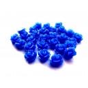 Cabochon rasina trandafir albastru 10mm