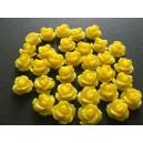 Cabochon rasina trandafir galben 10mm