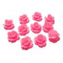 CRT10-39 - Cabochon rasina trandafir roz incarnadine 10mm