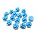 CRT10-40 - Cabochon rasina trandafir albastru 10mm