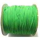 SE1mm-20 - (1 metru) Snur elastic rotund verde crud 1mm