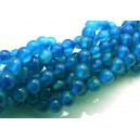 PSE13 - Agate albastre sfere 6mm - STOC FOARTE LIMITAT