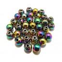 Hematit multicolor AB sfere 8mm