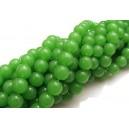 MS348 - (10 buc.) Margele sticla verde portelan sfere 8mm