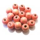Margele lemn roz pal degrade 12*10.5mm