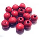 Margele lemn rosu magenta 12*10.5mm