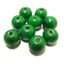 Margele lemn verde 01 19*17.5mm