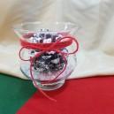 UNICAT - Aranjament Craciun in bol de sticla cu iuta si con de brad