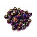 MSE427 - Margele sticla electroplate violet efect AB sfere 8mm