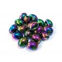 MSM431 - Margele sticla multicolore ovale 11*8mm