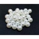 PAFG04 -  Perle acril fara gaura alb ivory sfere 8mm