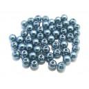 PA5mm-08 - (50 buc.) Perle acril albastru petrol sfere 5mm