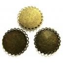 DISPONIBIL 5 BUCATI - BC13 - Baza cabochon bronz antic 29mm/25mm - STOC LIMITAT!!!