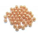 PA5mm-20 - (50 buc.) Perle acril portocalii sfere 5mm