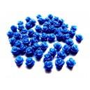 CRT7.5-02 - Cabochon rasina trandafir bleumarin 7.5mm