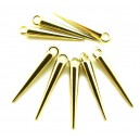 CP451 - (5 buc.) Charm tepi aurii 22*4mm