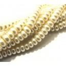 PSR6*4mm-01 - (10 buc.) Perle sticla ivory rondele 8*6mm
