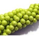 PSC8mm-02 - Perle sticla creponate verde crud sfere 8mm