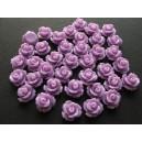 Cabochon rasina trandafir mov 10mm
