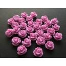 Cabochon rasina trandafir mov lila 10mm