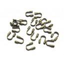 WG-03 - (10 buc.) Protectie sarma/wire guardian bronz antic  5*4mm