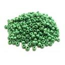 MN4mm-15 - (45 grame) Margele nisip verde irizat 01 4mm